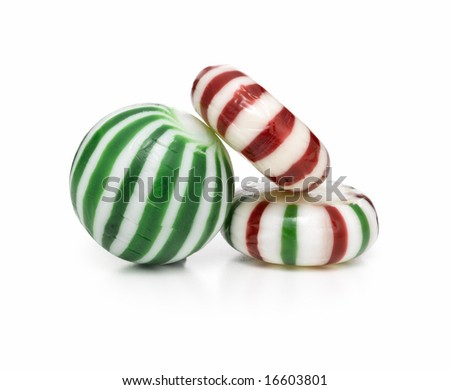 Christmas candy stacked - stock photo