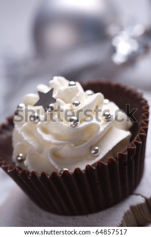 Christmas candy with chocolate and cream - stock photo