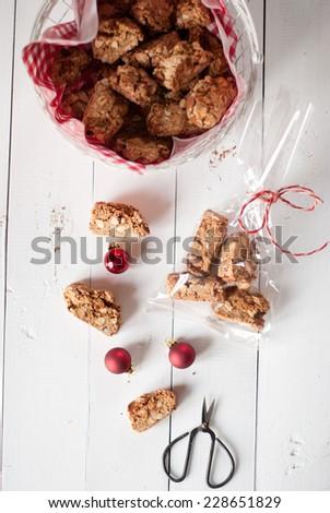 Christmas cantucci - stock photo