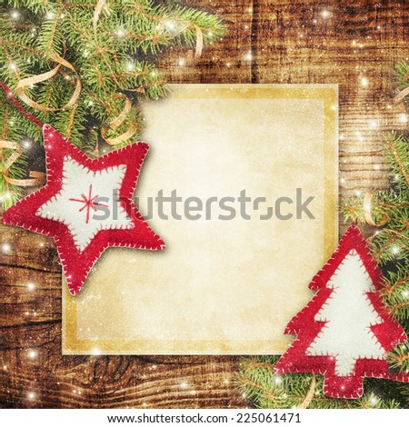 Christmas card. - stock photo