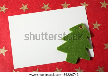 christmas card and decoration - insert text - stock photo