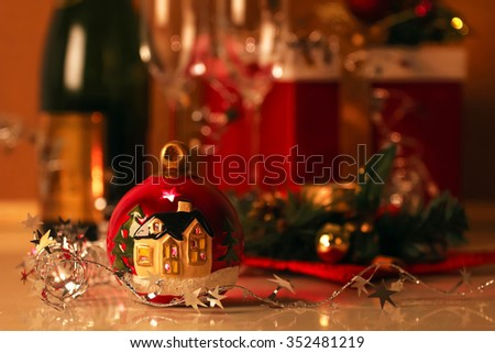 Christmas  card. Celebration of New Year - stock photo