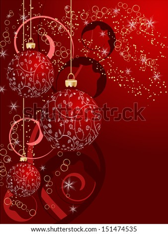 Christmas card decorative abstraction background. raster copy of vector file