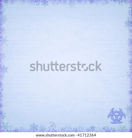 christmas card floral and snow pattern radiation stamp - stock photo