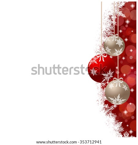 Christmas card illustration with empty space - stock photo