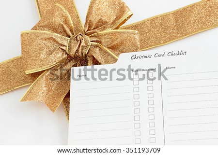 Christmas card list; who has been naughty or nice - stock photo
