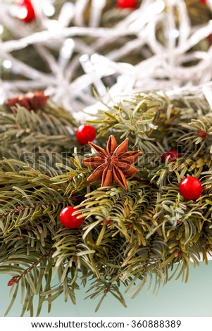 Christmas card. New Year background. - stock photo