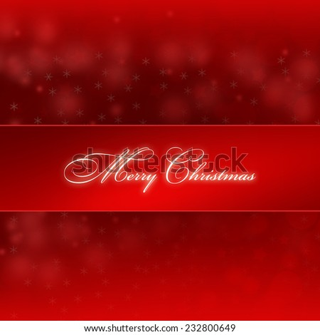 Christmas card. Red Merry Christmas background. - stock photo