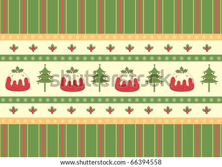 Christmas card.Vintage red green background for text. Winter holiday postcard. Rasterized vector