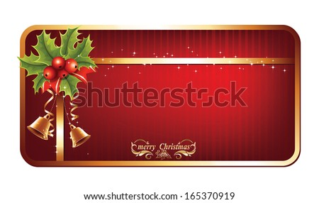 Christmas card with space and christmas ornament on white background