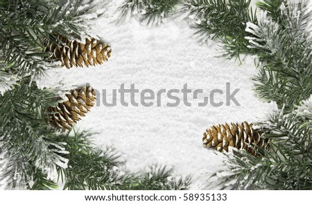 Christmas card with space for your text - stock photo