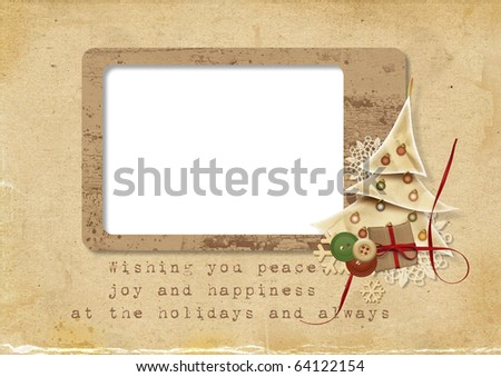 Christmas card with the wishes - stock photo