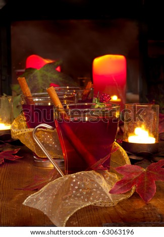 Christmas Cheer Spiced Cider - stock photo