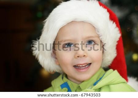 christmas child - stock photo