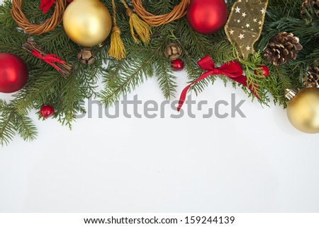 Christmas. Christmas Decoration Holiday Decorations Isolated on White Background  - stock photo