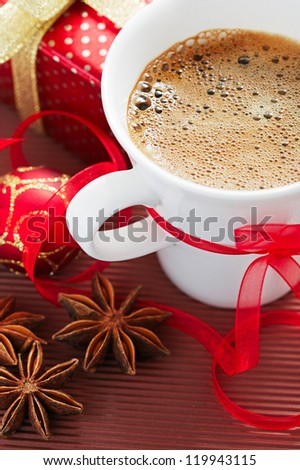Christmas coffee - stock photo