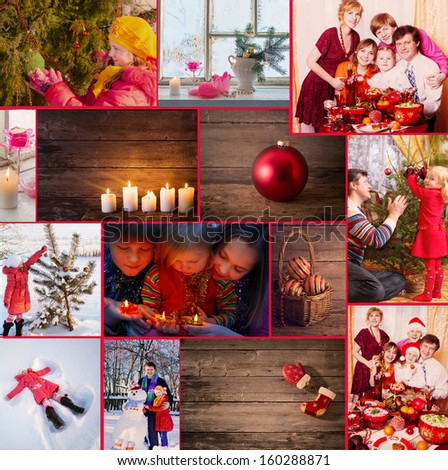 Christmas collage - stock photo