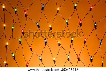 Christmas colorful garland - stock photo