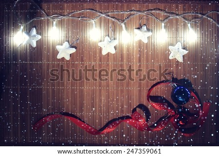 Christmas composition background, toys, decorations
