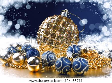 Christmas composition with Christmas decoration. Christmas decoration - stock photo