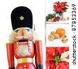 Christmas composition with nutcracker - stock photo