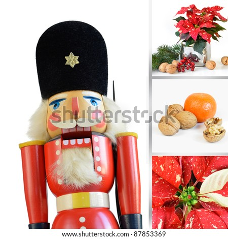 Christmas composition with nutcracker