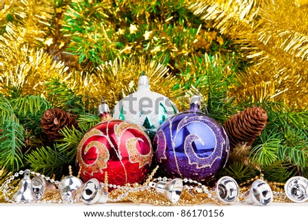 Christmas concept. decoration. New Year. christmas balls.