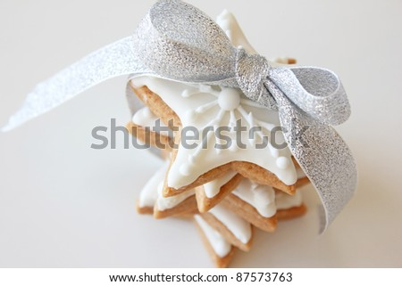 Christmas cookie stars - stock photo
