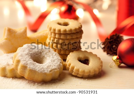 Christmas Cookies on Table