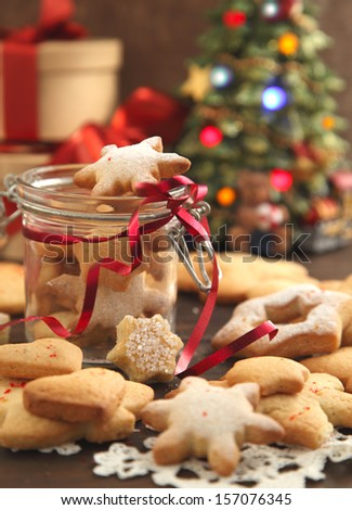 Christmas cookies. Selective focus - stock photo