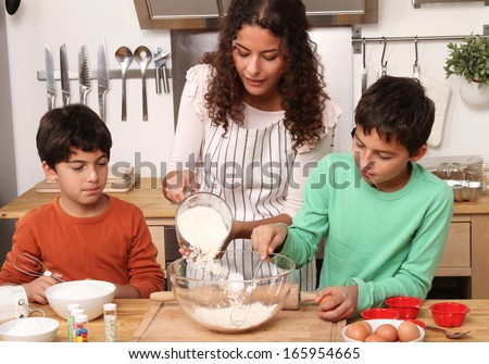 Christmas cooking - stock photo