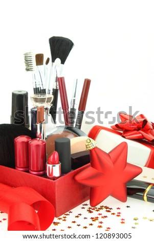 Christmas cosmetics - stock photo