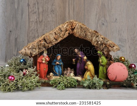 Christmas crib - stock photo