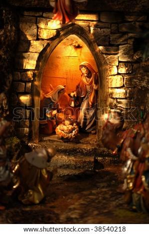 Christmas Crib in Austria - stock photo