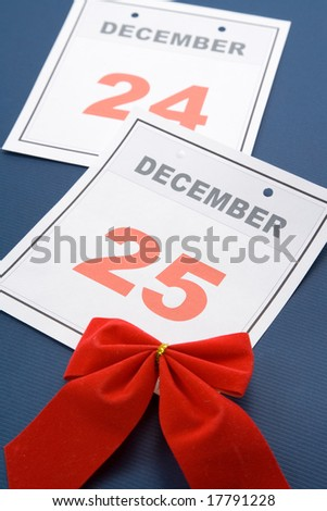 Christmas day, calendar December 25 for background