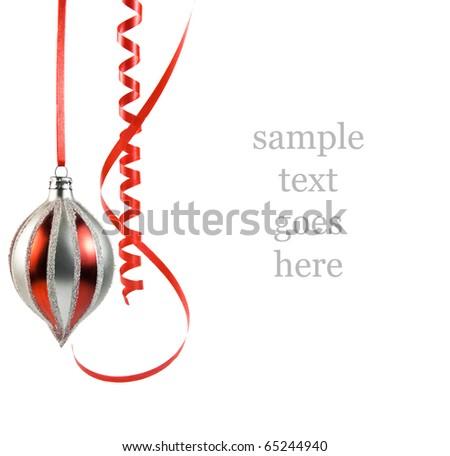 Christmas decor isolated on White - stock photo