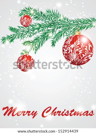 Christmas decorate card abstraction stylized illustration. raster copy of vector file - stock photo