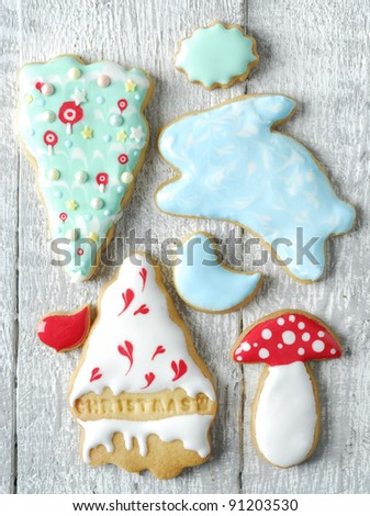 Christmas Decorated Cookie