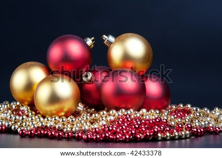 Christmas decorated on a white background