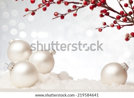 Christmas decoration against beautiful background. Useful as a christmas card. - stock photo
