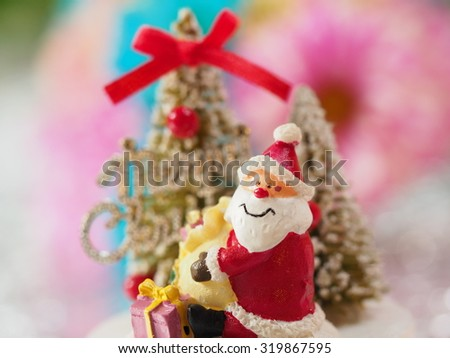 Christmas decoration and blurred background