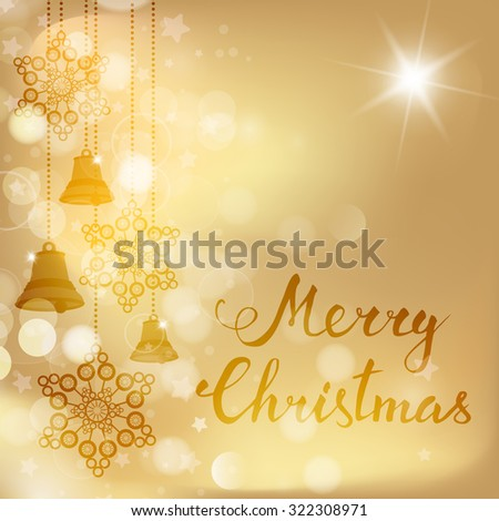 Christmas decoration and hand lettering. Christmas and New years holidays   illustration. Raster version - stock photo