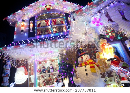 Christmas decoration at Christmas and holiday season - stock photo