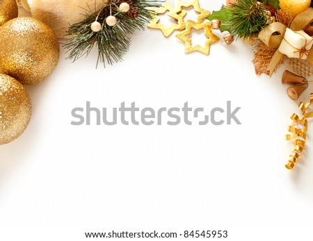 Christmas decoration. background with space for text or image. - stock photo