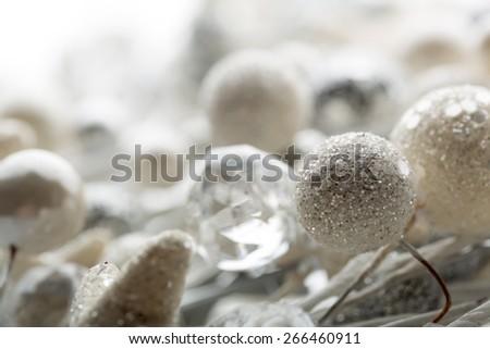 Christmas decoration baubles - stock photo