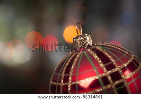 Christmas Decoration, baubles, presents! - stock photo