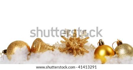 Christmas Decoration Border - stock photo