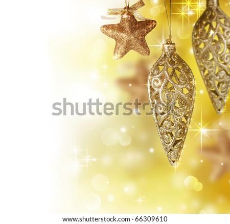 Christmas Decoration Border Design - stock photo