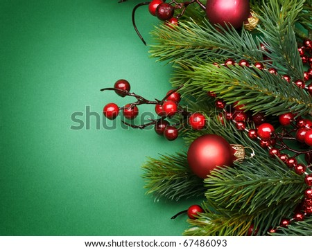 Christmas Decoration border Design - stock photo