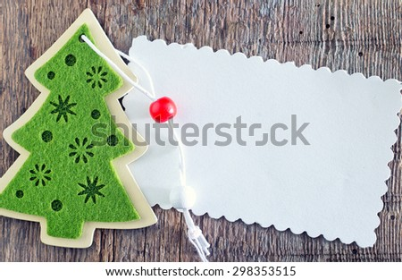 christmas decoration for christmas tree on a table - stock photo
